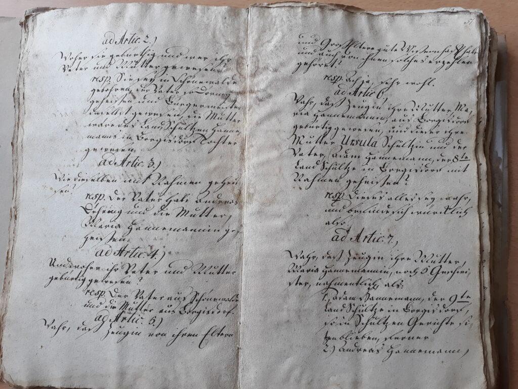 folio 50 v und 51