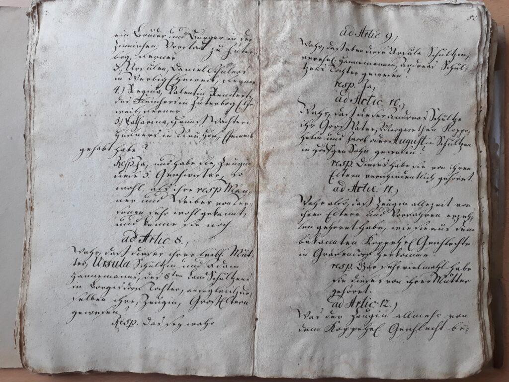 folio 51v und 52 r zu Maria Döring, vereh. Berndt
